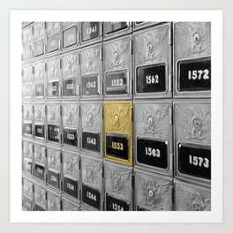 Vintage Post Office Boxes Art Print