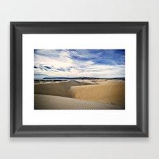 Sand Dunes and Ocean Views Framed Art Print