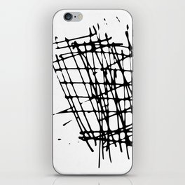 Sketch Black and White iPhone Skin