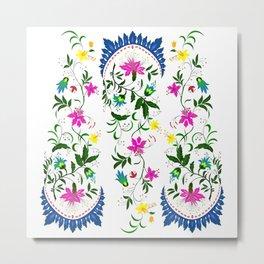 spring ornaments flowers Metal Print
