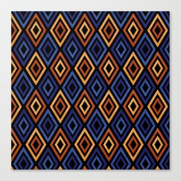 Tribal Diamond Pattern Canvas Print