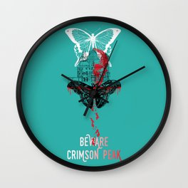 Beware Crimson Peak Design Wall Clock