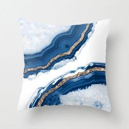 Agate Glitter Glam #15 #gem #decor #art #society6 Throw Pillow