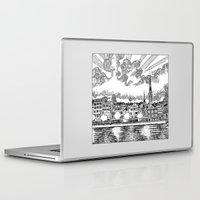 switzerland Laptop & iPad Skins featuring Zurich, Switzerland by Luis Feliú