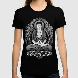 Gautama Buddha White Floral T-shirt