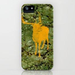 Deer on Green Camo iPhone Case