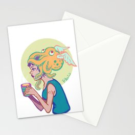 Less than divide three Stationery Cards