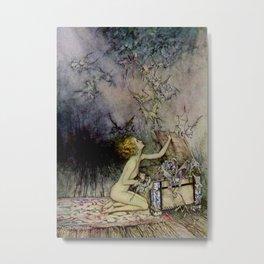 """Pandora Opens the Box"" by Arthur Rackham Metal Print"