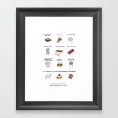 Foods of Parks and Rec Framed Art Print
