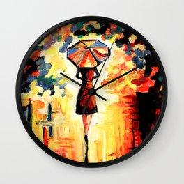 Umbrella Girl Wall Clock