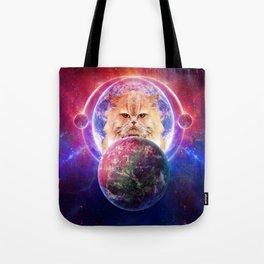 King Cat Galaxy Tote Bag
