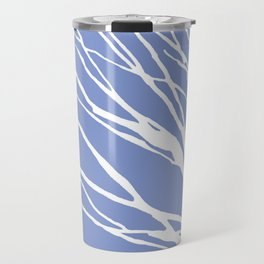 Tree Silhouette Periwinkle Blues Travel Mug