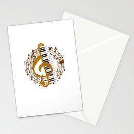 Retro Treble And Clef Piano Stationery Cards