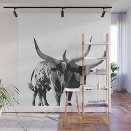 Ankole-Watusi Porttrait | African Cattle Wall Mural