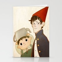 greg guillemin Stationery Cards featuring Greg & Wirt by Ferkashi