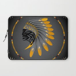 Honor and Strength Yellow Laptop Sleeve