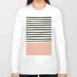 Peach x Stripes Long Sleeve T-shirt