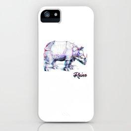 Rhino Glitch | Digital Art iPhone Case