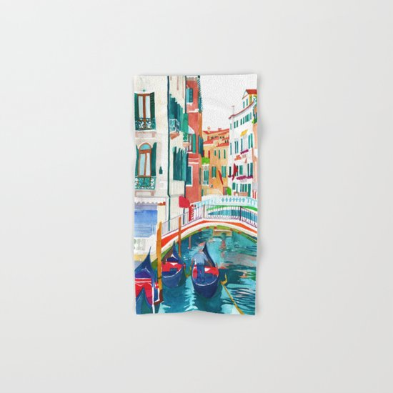 Canal in Venice Hand & Bath Towel