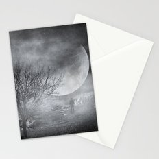Dark night sky paradox Stationery Cards