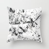 meme Throw Pillows featuring Meme sama by Anthony Hery
