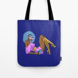 Funky Retro Girl Tote Bag