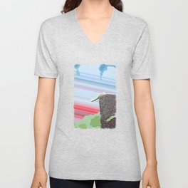"""""""Don't Go There"""" Cute Insect Art by Murray Bolesta! Unisex V-Neck"""