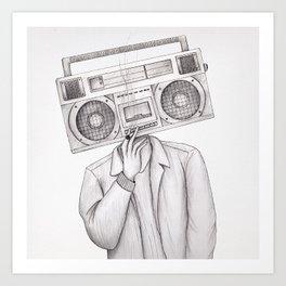 Radio Being Art Print