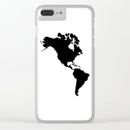 The Americas Silhouette Clear iPhone Case