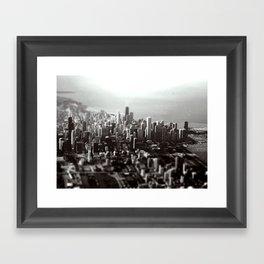 Chicago Skyline (tilt-shift) Framed Art Print
