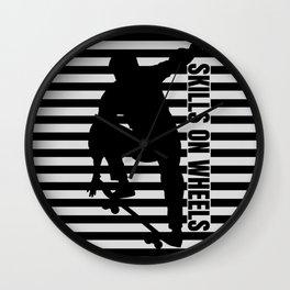 Skills On Wheels Wall Clock