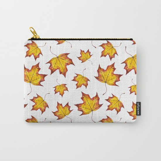 Autumn Leaves Pattern 04 Carry-All Pouch