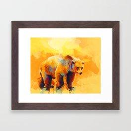 Bear Dream - Colorful grizzly bear digital art Framed Art Print