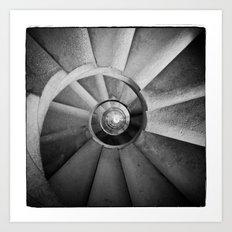 La Sagrada Familia Spiral Staircase Art Print