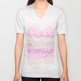 Unicorn Girls Glitter #2 #shiny #pastel #decor #art #society6 Unisex V-Neck