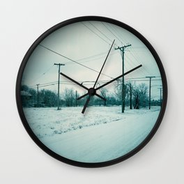 Abandoned Neighborhood in Detroit, Michigan Wall Clock