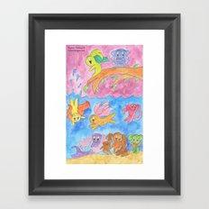 Ocean Party Framed Art Print