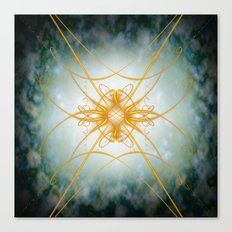 Gold filligree in space Canvas Print