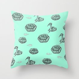 Python Print - Cyan Throw Pillow