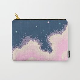 Pixel Cotton Candy Galaxy Carry-All Pouch