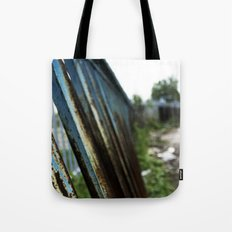 Blue Bars Tote Bag