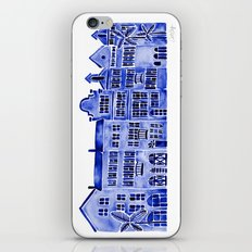 Row of Houses – Navy Palette iPhone & iPod Skin