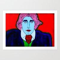 oscar wilde Art Prints featuring Oscar Wilde by Pluto00Art / Robin Brennan