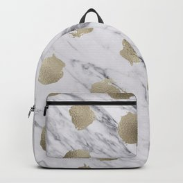 Golden dots on marble Backpack
