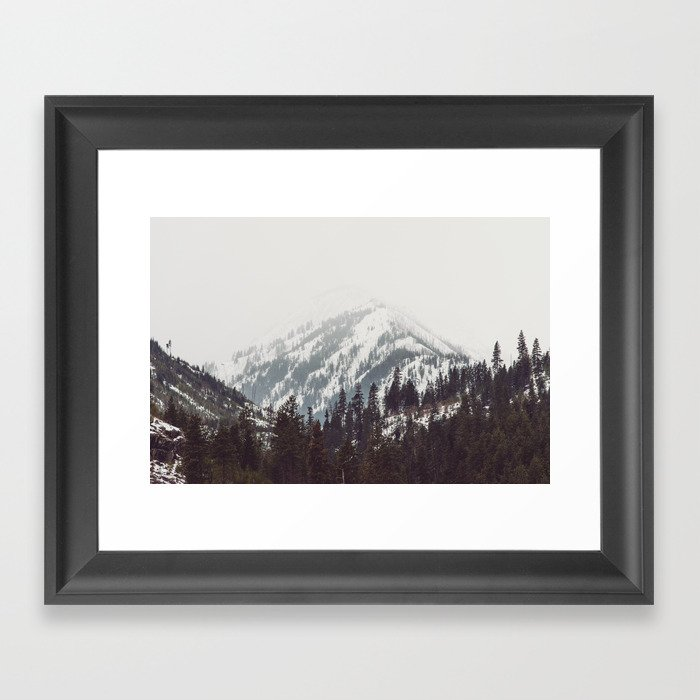 Storm in the Mountain Forest - Nature Photography Framed Art Print