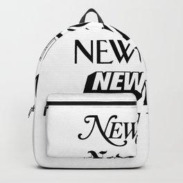 I Heart New York City Black and White New York Poster I Love NYC Design black-white home wall decor Backpack