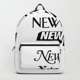 I Heart New York City Black and White New York Poster I Love NYC Design black-white home wall decor Backpack