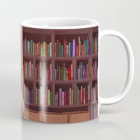 bookworm Mugs featuring Bookworm by Joifish