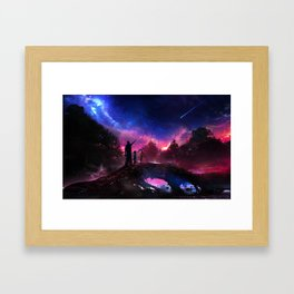 Dying star Framed Art Print