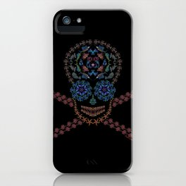 Marine Creatures Skull iPhone Case